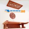 Bàn Thờ Treo Tường Gỗ Gụ TTGU006