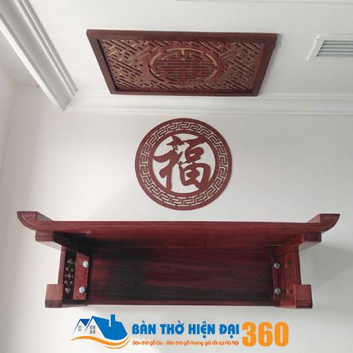 Bàn thờ treo tường gỗ hương TTGH001