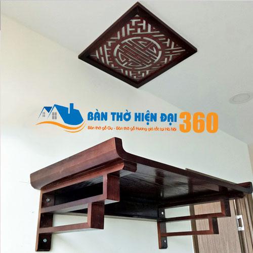 Bàn Thờ Treo Tường Gỗ Hương TTGH003