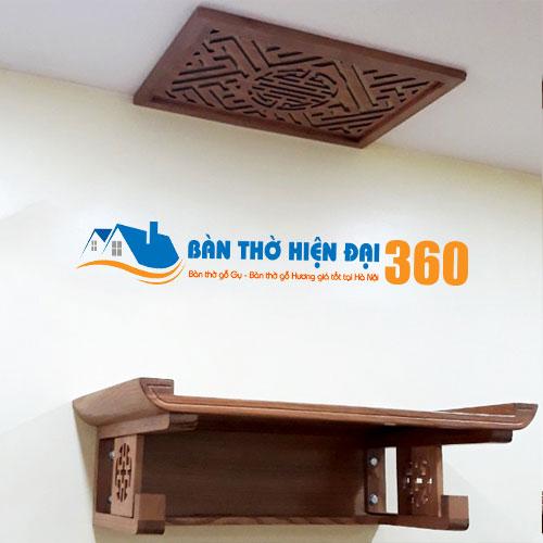 Bàn Thờ Treo Tường Gỗ Hương TTGH004