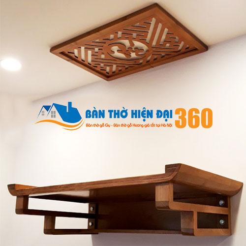 Bàn Thờ Treo Tường Gỗ Hương TTGH006