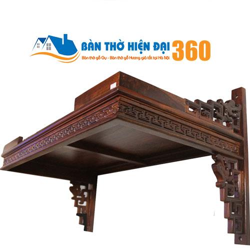 Bàn Thờ Treo Tường Gỗ Hương TTGH008