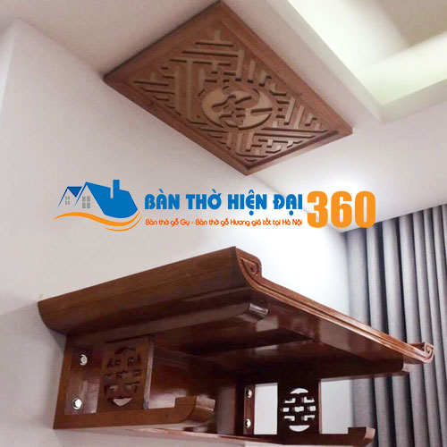 Bàn Thờ Treo Tường Gỗ Hương TTGH009