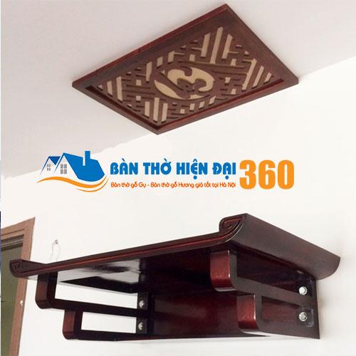Bàn Thờ Treo Tường Gỗ Mít TTGM003
