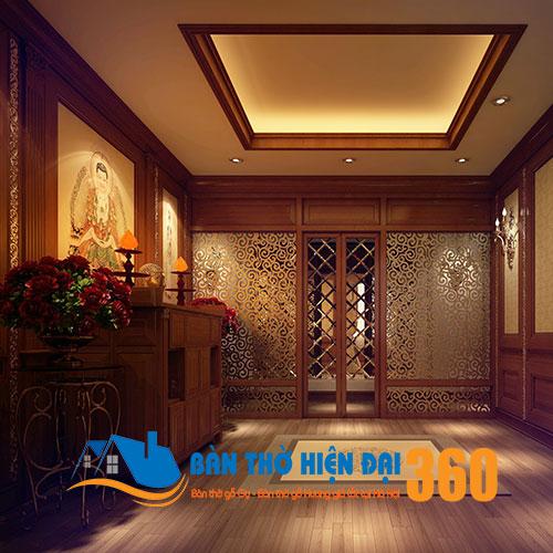 Mẫu thiết kế phòng thờ gia tiên hiện đại