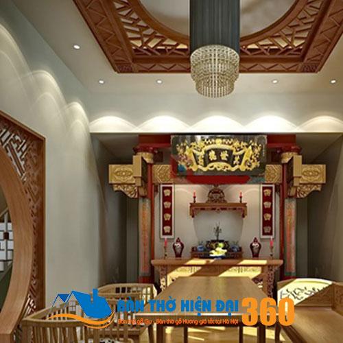 Vách ngăn CNC phòng thờ Hà Nội