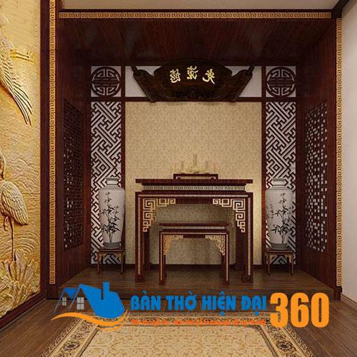 Vách ngăn phòng thờ gỗ cao cấp đẹp