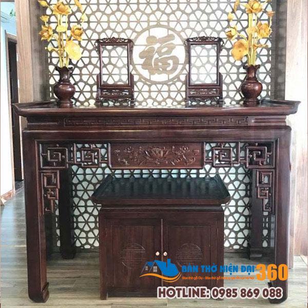 Mẫu bàn thờ đẹp nhất dáng đứng hiện đại Huyện Quốc Oai
