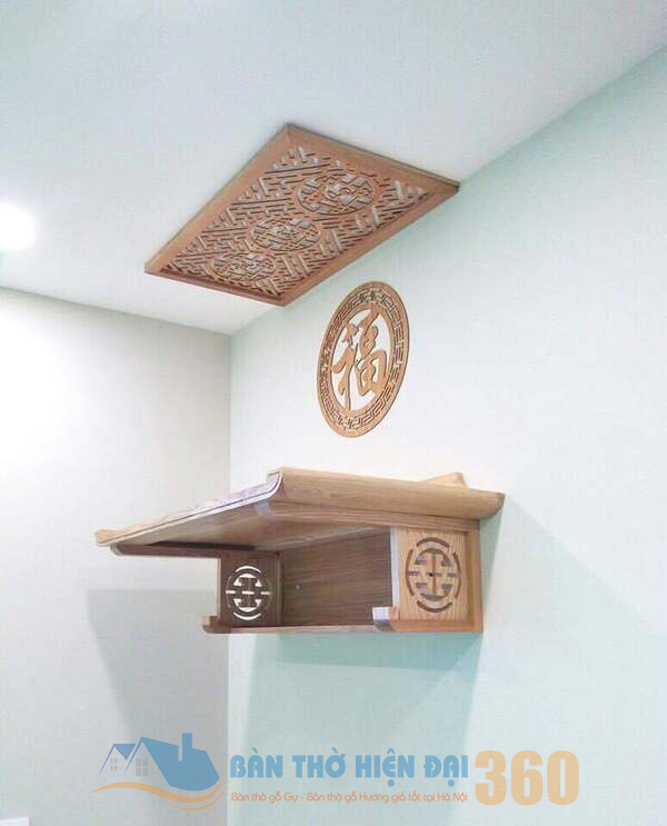 Tại sao nên chọn bàn thờ loại treo tường trong việc thờ cúng ?